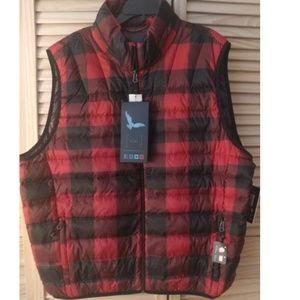 NWT Mens XL Hawke & Co Down Vest Storable Pocket